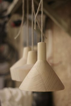 """""""A few prototype shapes for an upcoming new set of pendant lamps!…..""""here"""