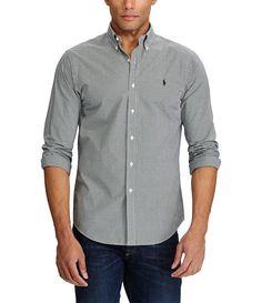 Polo Ralph Lauren Slim-Fit Gingham Long-Sleeve Woven Shirt