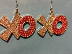 A personal favorite from my Etsy shop https://www.etsy.com/listing/567624450/rhinestone-xo-earrings-ai23