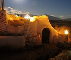 Earthship Biotecture, Tres Piedras, New Mexico  The Earthship Projectwas built in the1960s and in 1997 began allowing guests to sleep in its sustainable pods. Made from recycled or sustainable materials, the earthships recycle their own gray water, generate their own power, and grow their own food. They're also equipped with amenities unlikely to be found in outer space: Wi-Fi, TV, and streaming Netflix.