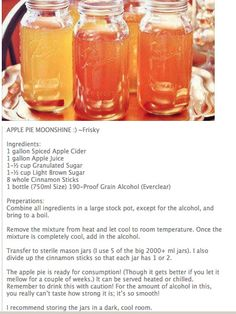 Apple pie moonshine. I'm sure Cody would like this.