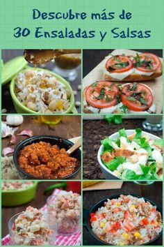 Más de 30 ensaladas y salsas para disfrutar en #verano