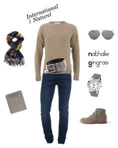 """""""Style International - Naturel"""" by nathalie-gingras on Polyvore featuring mode, Acne Studios, Universal Works, Topman, Linda Farrow Luxe et GUESS"""