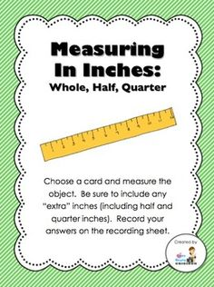 FREE Measurement Center (Inches - whole, half, quarter)