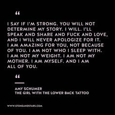 Book of the week The Girl with the Lower Back Tattoo by Amy Schumer #hustle #book #motivation #inspiration #entrepreneur #girlboss #boss #quote #wisdom