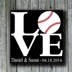 Hey, I found this really awesome Etsy listing at https://www.etsy.com/listing/182790224/love-and-baseballpersonalized-wedding