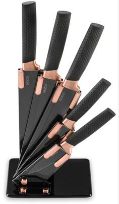 Best Kitchen Knives, Kitchen Gadgets, Rose Gold Kitchen Accessories, Professional Kitchen Knives, Professional Chef, Kitchen Utensil Set, Kitchen Ideas, Kitchen Ware, Copper Kitchen
