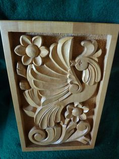 Woodcarving, Home Décor, Wood Art, Woodcraft, Woodworking, Wooden Bird, Wall Hanging, Wooden Gift, Handmade 14,96 x 9,45″ - MADE TO ORDER