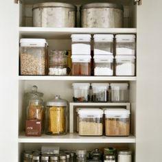 mini shelf in pantry