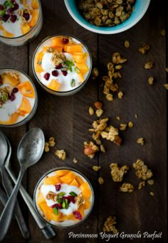 Persimmon Yogurt Granola Parfait