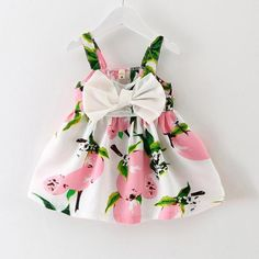 [FREE TODAY] Fruit Print Dress for Baby Girls