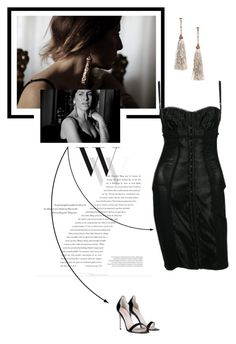 """""""Me"""" by theitalianglam ❤ liked on Polyvore featuring Balenciaga, Dolce&Gabbana, HM, LBD, dolcegabbana and tassel"""