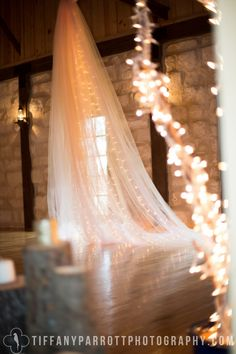 Tulle and Lights Shabby chic Stage Backdrop