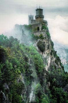 San Marino Castle, Italy... into the mist