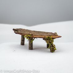 Rustic Maple Table Fairy Table Fairy Mini Table by IrmasCraftShop