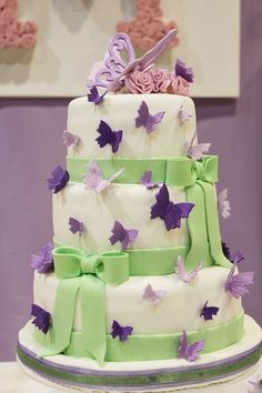"""Photo 16 of 24: Butterflies / Birthday """"Butterfly Kisses - For the lovers of Lilac """" 