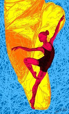 Ballerina Painting For Sale - La ballerina du Juilliard