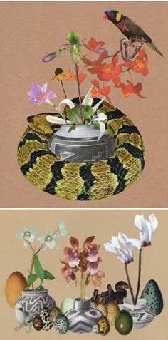 ted feighan paper collage