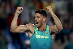 Thiago Braz da Silva brought the Brazilian crowd to its feet on Monday night, winning the home country's first gold with an Olympic record pole vault of 6.03 meters (19'9.25). He beat defending Olympic Champion Renaud Lavillenie of France, who finished second with a vault of 5.98 meters.