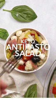 Low Carb Keto, Low Carb Recipes, Diet Recipes, Cooking Recipes, Healthy Recipes, Sausage Recipes, Antipasto Recipes, Antipasto Salad, Ketogenic Diet