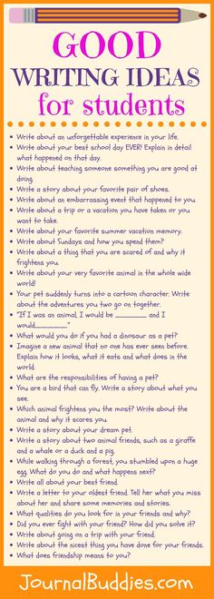 Encourage kids to stretch their imagination and go deeperinto theircreativity with these good writing ideas.Children who write consistently tend to have a strong sense of self-confidence in their ability to creatively express their thoughts, ideas, and opinions.