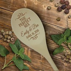 Engraved Wood Spoon The Perfect Mix, Personalized Wooden Spoon SP109