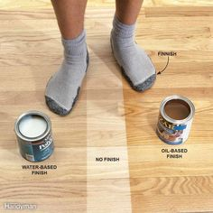 Best Water Based Polyurethane For Wood Floors - When choosing a hardwood flooring for your home or place of business maybe Polyurethane Floors, How To Apply Polyurethane, Oil Based Stain, Water Based Stain, Floor Stain, Floor Finishes, Wipe On Poly, Red Oak Floors, Oak Hardwood Flooring
