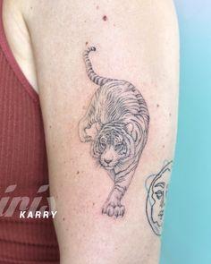 Dope Tattoos, Dream Tattoos, Tattoos For Guys, Unique Small Tattoo, Small Tattoos, Tiger Tattoo Design, Tattoo Designs, Behind Ear Tattoos, Piercings