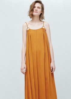 Vestido largo algodón | MANGO