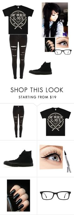 """""""^Of mice and men^"""" by xxy0urs-trulyxx ❤ liked on Polyvore featuring River Island, Converse, Luminess Air and Ray-Ban"""