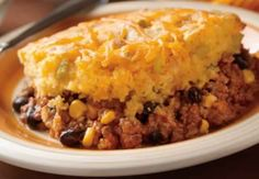 Ingredients: 1 lb. lean ground beef 1 packet (1.4 oz.) taco or chili seasoning mix 2 cans (8 oz. each) tomato sauce 1 can (15 1/4 oz.) no-salt added whole-kernel corn, drained 1 can (15 oz.) black beans, rinsed and…
