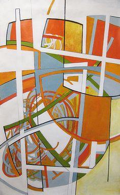 White Gates www.heatherbentz.com #arttomakeyouhappy #scribble Art for home, art for office by contemporary artist Heather Bentz #originalart #contemporaryart #heatherbentzart #acryliconpaper #goldenacrylic
