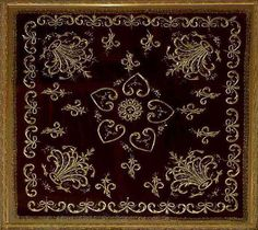 ottoman embroidery | Antique Turkish Textile. Ottoman Embroidery on velvet with gold thread ...