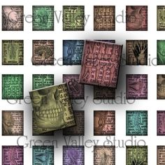 INSTANT DOWNLOAD Digital Collage Sheet Vintage by greenvalley (Craft Supplies & Tools, Scrapbooking Supplies, Scrapbooking Clip Art, digital sheet, digital collage, printable, download, tile, tiles, wood, pendant, jewelry, glass, scrapbooking, altered art)