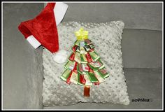 Christmas pillow with ribbons. Do you like it?