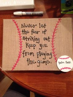 Babe Ruth quote for Grayson's room. Vintage baseball boys nursery