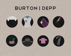 Johnny Depp & Tim Burton Movie Icons 2012 on Behance