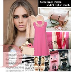 """Cara Delevigne ♥PINK♥"" by glamxdiamond ❤ liked on Polyvore"