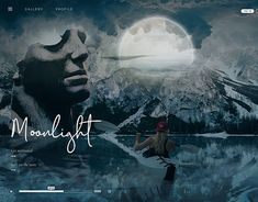 Moonlight - UI/UX Design - Landing Page Ui Ux Design, Corporate Identity, Interactive Design, Moonlight, Mockup, Landing, Behance, Gallery, Check
