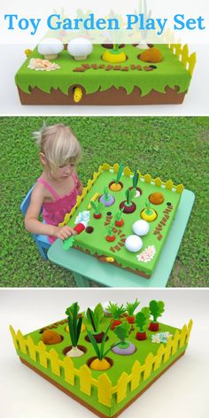 What kid wouldn't love to play with this toy garden set? A great gift idea and great for learning the importance of gardening (outside of actually teaching them to garden, that is!) #kidsactivities #kidscrafts #ad #kidsroom