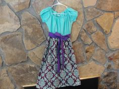 Ladies Peasant Dress in Gorgeous Aqua and by JustSewStinkinCute, $58.00