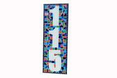 Outdoor House Numbers Mosaic Address Sign by GreenStreetMosaics, $70.00