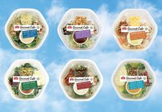 Our NEW Gourmet Cafe salads make transporting your meal easy. Everything you need is found in one bowl! With 6 varieties, there's a flavor to please everyone.