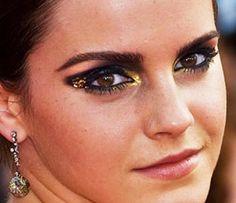 maquiagem artística preta e dourada - Pesquisa Google