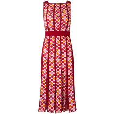 Reinaldo Lourenço printed dress (22 880 UAH) ❤ liked on Polyvore featuring dresses, colorful print dresses, multicolored dress, red pattern dress, multi-color dress and silk dress