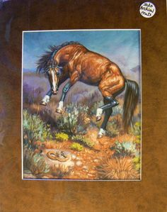 Mustang Art Reproduction 8x10 matted to 11x14 by KerryOriginals