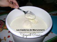 LOS CALDEROS DE MARUNMERU: YOGURT CASERO