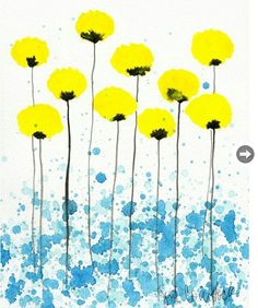 Mischung aus Druck und Tusche/Aquarell Buy 2 Get 1 FREE -- Watercolor Painting: Watercolor Flowers -- Art Print -- Lovely Lady -- Yellow Flowers -- Art Floral, Watercolor Flowers, Watercolor Paintings, Painting Art, Painting Flowers, Watercolor Background, Watercolor Water, Easy Watercolor, Art Et Illustration