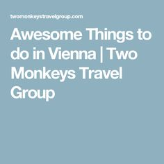 Awesome Things to do in Vienna | Two Monkeys Travel Group