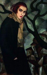 """Tamara de Lempick, """"Portrait de Mme P."""" ou """"Sa Tristesse"""", 1923, Collection privée"""